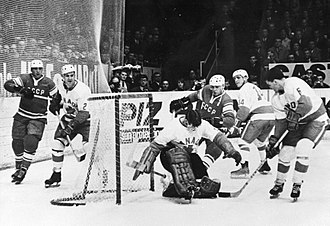 1967 World Ice Hockey Championships - USSR-Canada 2–1 game on 27 March