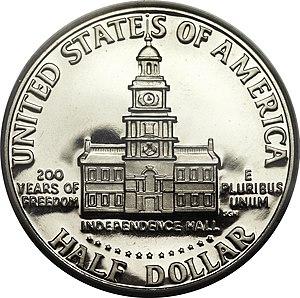 United States Bicentennial coinage - Half dollar Bicentennial reverse