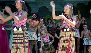 Music of New Zealand - Māori culture group at 1981 Nambassa festival.