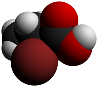 2-Bromobutyric acid - Image: 2 Bromobutyric acid 3D vd W by AHRLS 2012