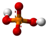 Ball-and-stick model of the dihydrogenphosphate anion