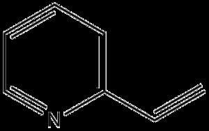 2-Vinylpyridine - Image: 2 vinylpyridine structure