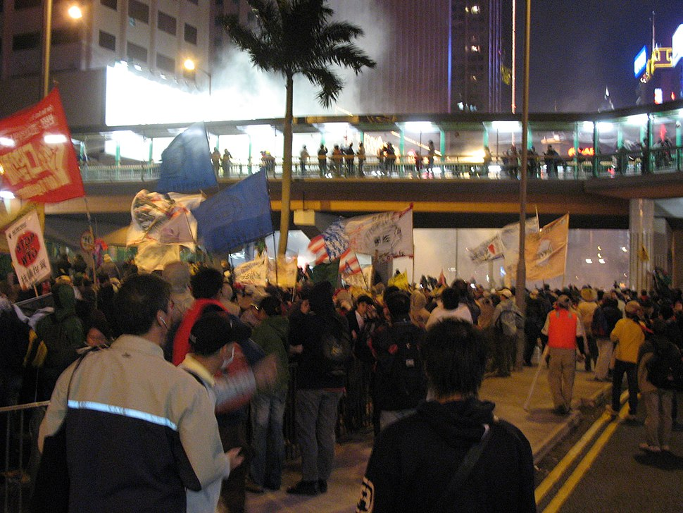 2005-12-17 Tear Smoke Launched on Korean Protesters in Hong Kong