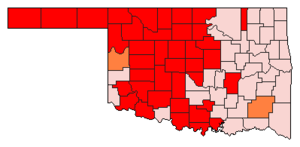 Oklahoma Republican primary, 2008 - Image: 2008OKgopprimary