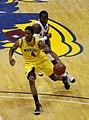 20091219 Darius Morris of Michigan Wolverines Basketball against Kansas.jpg