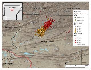 Guy-Greenbrier earthquake swarm