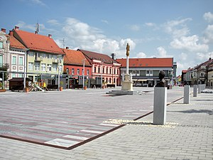 Ljutomer - Main square in Ljutomer