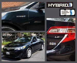 Toyota Camry (XV50) - 2012 Toyota Camry Hybrid badging (US)
