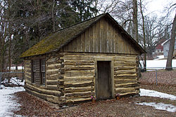 The Urjans Iverson House, the 1866 log cabin of a Norwegian immigrant, was also used to host school and church services and listed on the National Register of Historic Places.