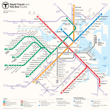 Cambridge Bus Map MBTA key bus routes   Wikipedia Cambridge Bus Map