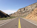 2014-07-17 09 48 22 View west along U.S. Route 6 about 124 miles east of the Esmeralda County Line in Nye County, Nevada.JPG