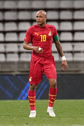 André Ayew - Ayew playing for Ghana in 2015