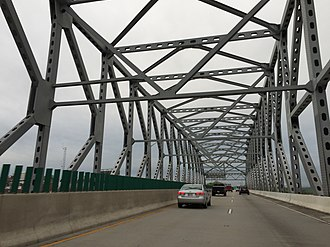 Interstate 895 (Maryland) - K-Truss Bridge over railroad tracks southwest of the tunnel