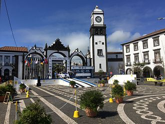 Rallye Açores - Start podium in Ponta Delgada at the 2017 event