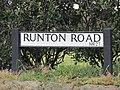 2018-03-31 Street name sign, Runton road, Cromer.JPG