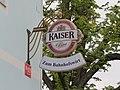 2018-09-14 (414) Kaiser Bier advertising Bahnhofswirt at Bahnhof Pöchlarn, Austria.jpg
