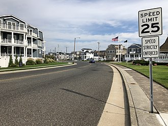 Longport, New Jersey - County Route 629 entering Longport