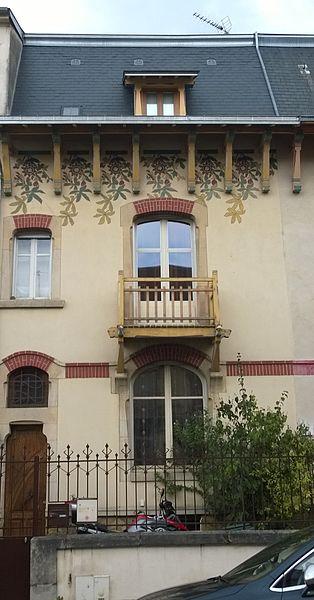 Maison 25 rue Félix Faure à Nancy (54-France) - art nouveau