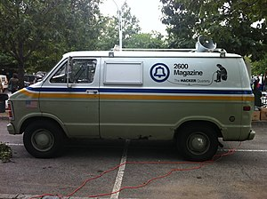 2600: The Hacker Quarterly - The 2600 van, a modified New York Telephone vehicle.