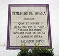 294 Cementiri de Sinera, d'Espriu, a l'entrada al cementiri.jpg