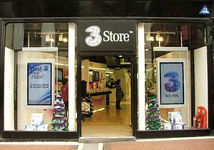 Three Ireland - A 3 Store, Grafton St, Dublin.