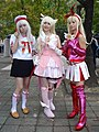 3 cosplayers of Illyasviel von Einzbern, Prisma Illya at CWT50 20181208a.jpg
