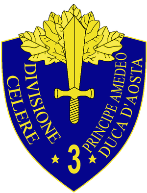 3rd Cavalry Division Principe Amedeo Duca d'Aosta - 3a Cavalry Division Principe Amedeo Duca d'Aosta Insignia
