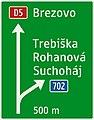 433-51 Smerová predzvesť diaľničná (prípojka – smerovo orientovaná značka, základný variant).jpg