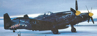 449th Fighter-Interceptor Squadron - F-82H 46-387 in the Alaskan snow, about 1950