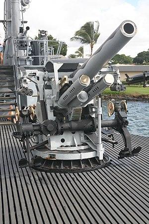 """5""""/25 caliber gun - Image: 5 inch 25 caliber gun USS Bowfin"""