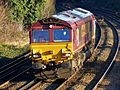 66119 Dollands Moor to Wembley light engine (32327916686).jpg