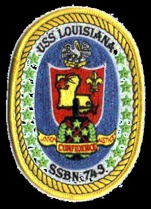 USS Louisiana (SSBN-743) - Image: 743 logo