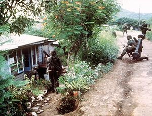 M47 Dragon - U.S. Army soldiers in October 1983, armed with the M47 Dragon during the Invasion of Grenada.
