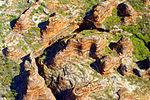 A201, Purnululu National Park, Western Australia, Bungle Bungles, from plane, 2007.JPG