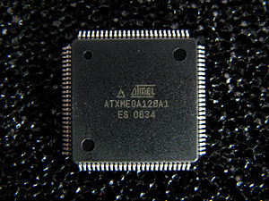 Atmel AVR - Atmel ATxmega128A1 in 100-pin TQFP package