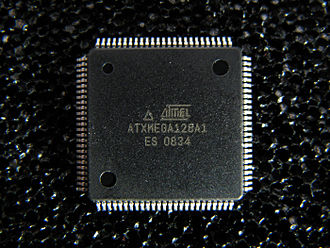 AVR microcontrollers - Atmel ATxmega128A1 in 100-pin TQFP package