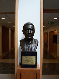 A Bust of J.B. Fuqua in the Hall of Flags at the Fuqua School of Business.JPG