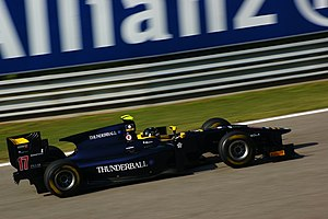 Adam Carroll - Carroll driving for Super Nova at the Monza round of the 2011 GP2 Series season.