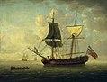 A Naval Brigantine in a Calm Sea RMG L8773.jpg