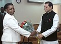 A delegation from Mozambique led by the Minister for Mineral Resources, Ms. Esperanca Laurinda Bias calls on the Minister of State for Mines, Dr. T. Subbarami Reddy, in New Delhi on October 09, 2006.jpg