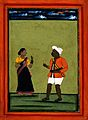 A military soldier and his wife. Gouache drawing. Wellcome V0045249.jpg