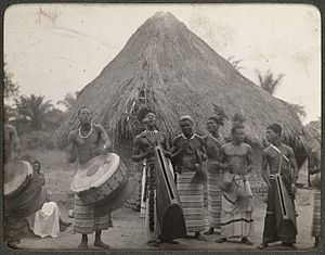 Lusambo - A native band in 1903