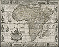A new, plaine, & exact mapp of Africa described by N.I. Visscher and done into English, enlarged and corrected, according to I. Blaeu, with the habits of the countries and manner of the cheife citties, the like never before (4231155871).jpg