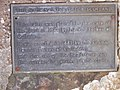 A plaque on the Memorial Cairn on Culloden Moor - geograph.org.uk - 1066180.jpg