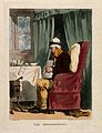 A seated hypochondriac shivering in front of a fire and surr Wellcome V0011160.jpg