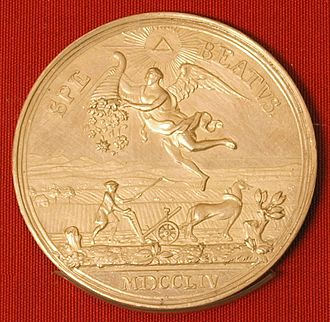 Martin Holtzhey - New year's medal, 1754