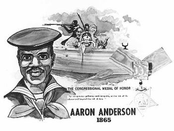 US Navy poster featuring Landsman Aaron Anders...