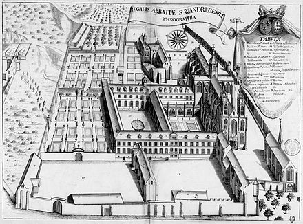 https://upload.wikimedia.org/wikipedia/commons/thumb/d/db/Abbaye_Saint-Wandrille_dans_Monasticon_Gallicanum.jpg/440px-Abbaye_Saint-Wandrille_dans_Monasticon_Gallicanum.jpg
