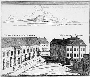 1708 in Sweden - Image: Academia Carolina Uppsala
