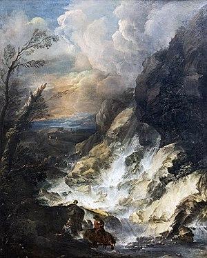 Marco Ricci - Image: Accademia La cascata Marco ricci Cat.454 (convento di san Giogio maggiore)